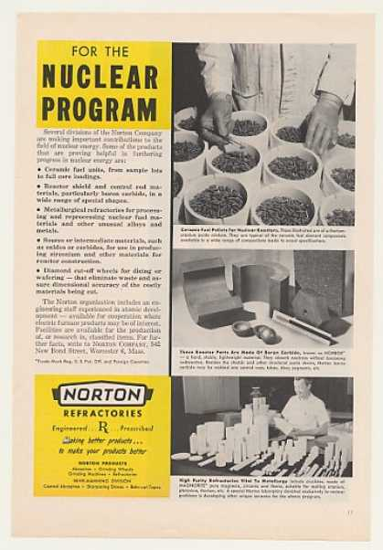 Norton Nuclear Fuel Pellets Reactor Parts (1958)