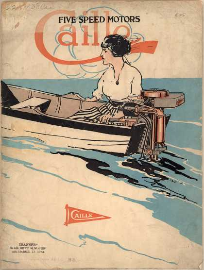 Caille Perfection Motor Co.'s motors – Caille Five Speed Motors (1915)