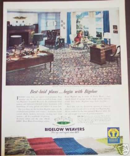 Bigelow Weavers Carpet Rugs Photo (1947)
