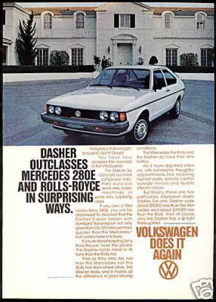 VW Volkswagen Dasher Sedan Photo Print Vintage (1978)