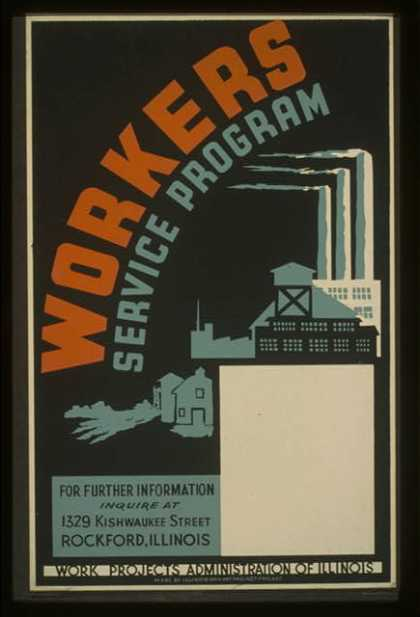 Workers service program ... Rockford, Illinois. (1941)