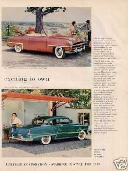 Chrysler Corporation Cars Ad 2 Page (1953)