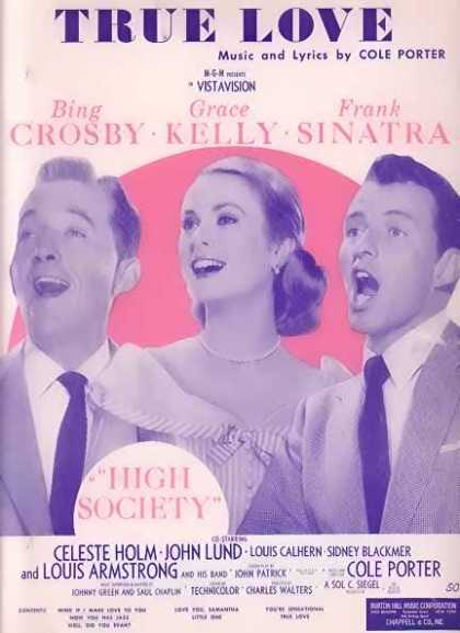 True Love – Crosby, Grace Kelly, Sinatra Movie Sheet Music (1956)