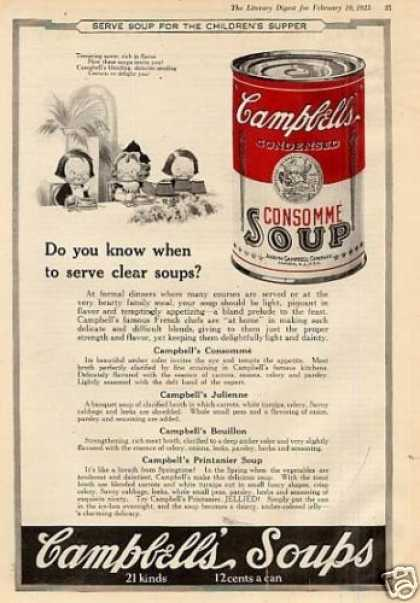 "Campbell's Consomme Soup Ad ""Do You Know... (1923)"