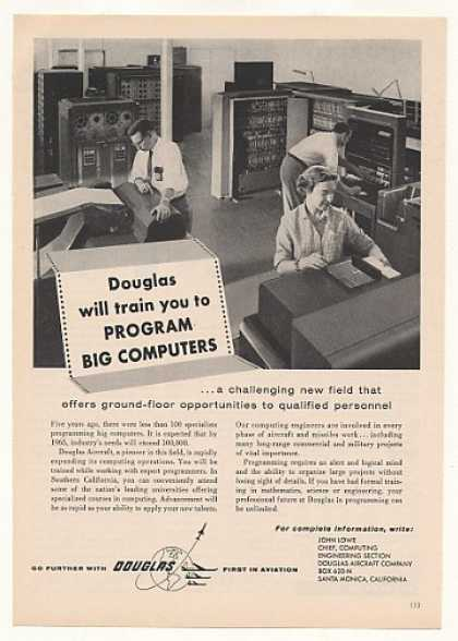 Douglas Aircraft Program Big Computers Training (1957)