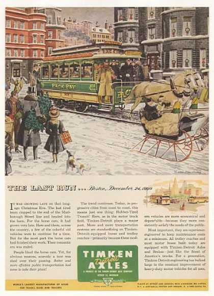 Timken Detroit Axles 1900 Boston Horse Car Xmas (1951)