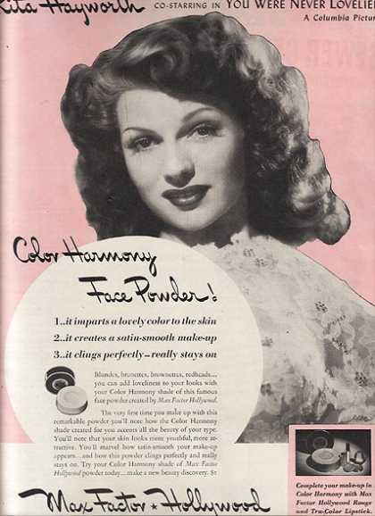 Max Factor Hollywood Face Powder – Rita Hayworth (1942)