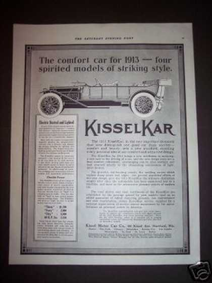 Kissel Motor Car Kisselkar 4 Models (1912)