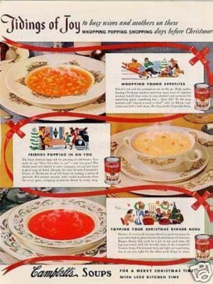 "Campbell's Soups Ad ""Tidings of Joy... (1941)"