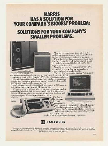 Harris Super Minicomputer Data Terminal PBX (1982)