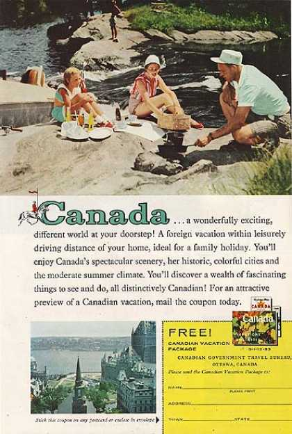 Canada's Free! Canadian Vacation Package (1959)