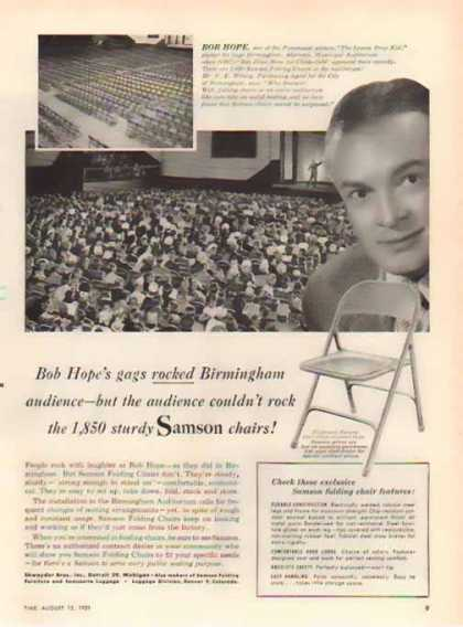 Bob Hope in Samson Chairs (1951)