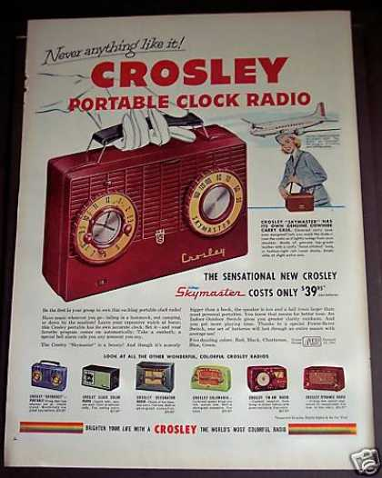 Crosley Portable Clock Radio (1953)