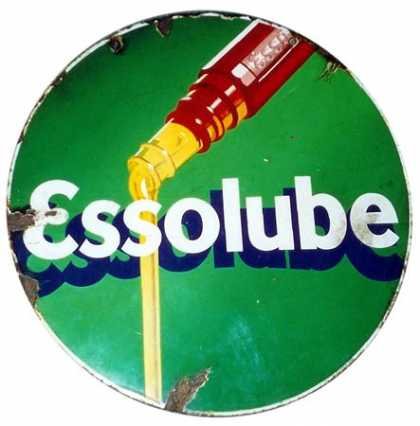 Essolube Oil Hanging Sign