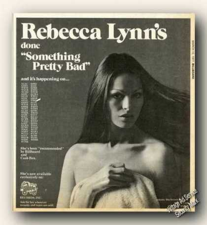 Rebecca Lynn Photo Something Pretty Bad Promo (1977)