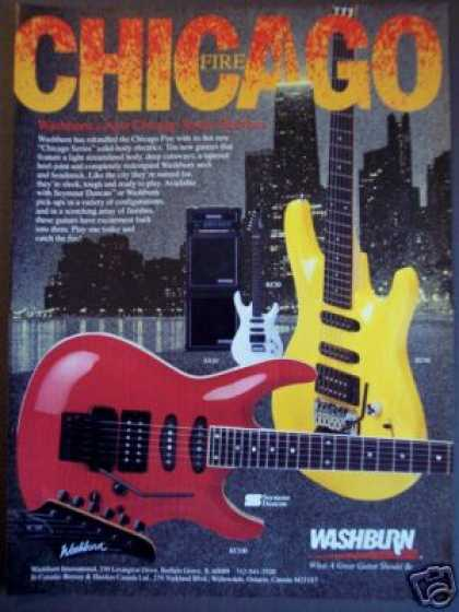 Washburn Chicago Series Guitars (1989)