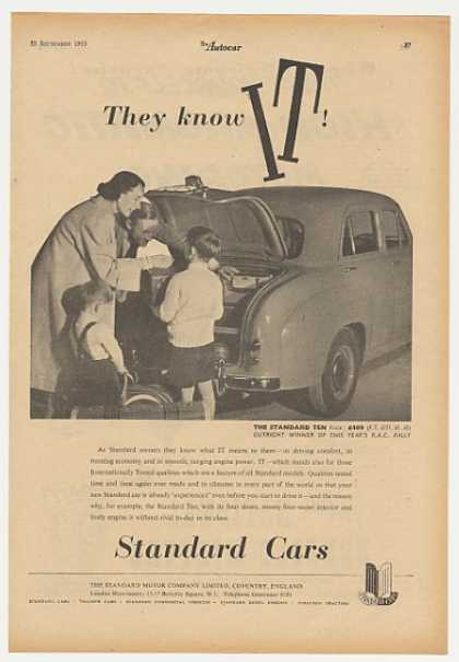 Standard Ten Car They Know IT British (1955)