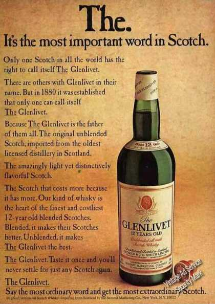 "The Glenlivet ""Most Extraordinary Scotch"" (1974)"