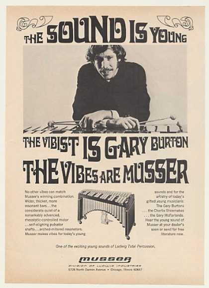 Gary Burton Musser Vibes Photo (1970)