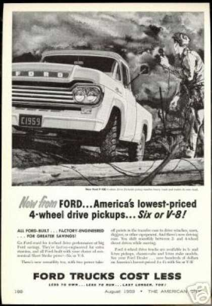 Ford 4WD Truck Pickup Telephone Lineman (1959)