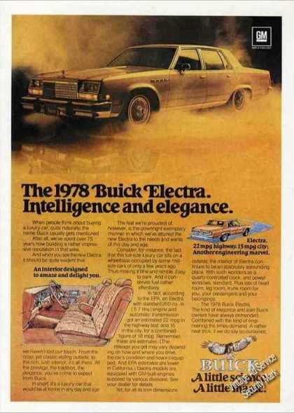 "Buick Electra ""Intelligence and Elegance"" (1978)"