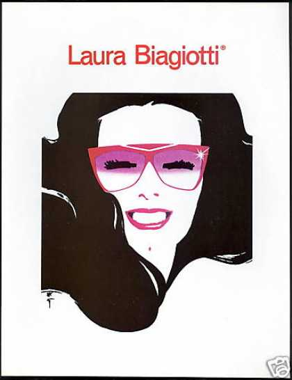 Laura Biagiotti Red Sunglasses Pretty Lady Art (1986)