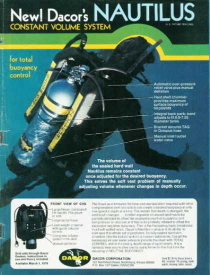 Decor Scuba Diving Cvs Nautilus T (1976)