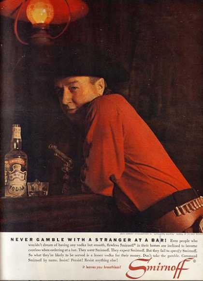 Smirnoff's Smooth, Flawless Vodka (1963)