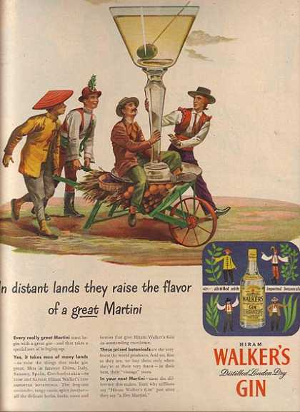 Walker's Distilled London Dry Gin (1947)