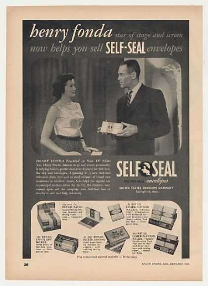 Henry Fonda Self-Seal Envelopes Photo Trade (1952)