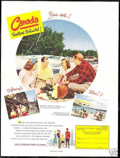 Canada Travel Vacation Unlimited Photo (1952)
