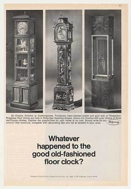 Ridgeway Empire Oriental Contemporary Clocks (1970)