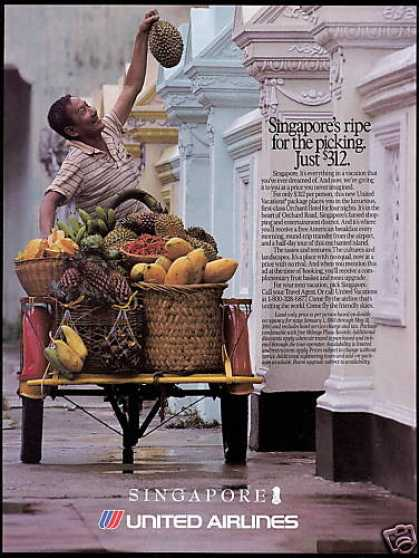 United Airlines Singapore Produce Vendor (1993)
