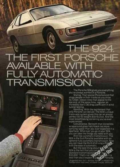 Porsche 924 First W/full Automatic Transmission (1977)