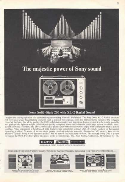 Sony 260 Xl-2 Reel To Reel Recorder Print (1966)