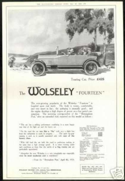 Wolseley Fourteen Touring Car Vintage UK (1924)