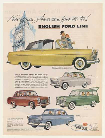 English Ford Consul Convertible Prefect Anglia (1959)