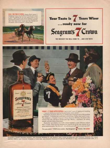 Seagrams Seven 7 Crown Whiskey Jockeys (1941)