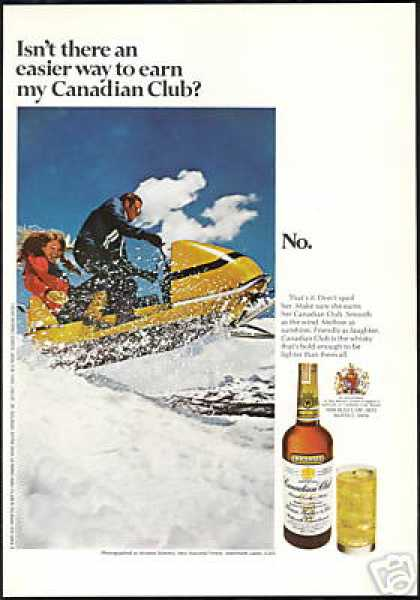 Snowmobile Mammoth Lakes Canadian Club Whisky (1970)