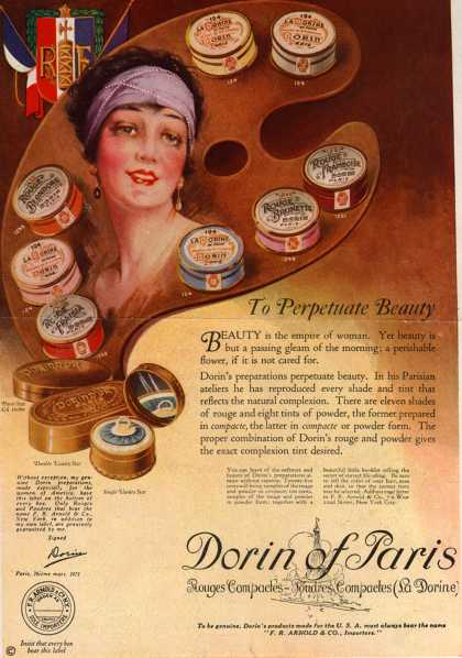 Dorin of Pari's Rouge and Powder – To Perpetuate Beauty (1922)