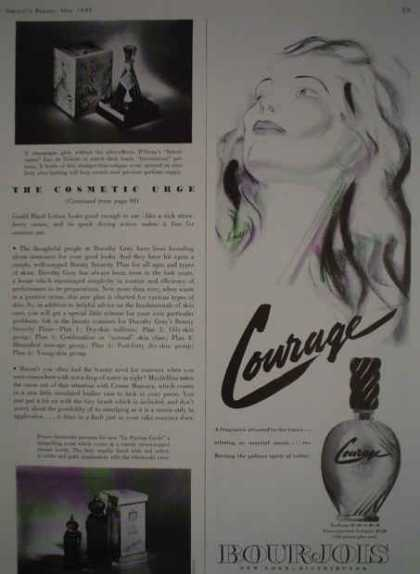 Bourjois Perfume Courage Half page (1943)