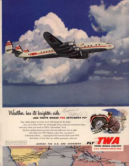 Trans World Airlines – Weather has its brighter side (1953)