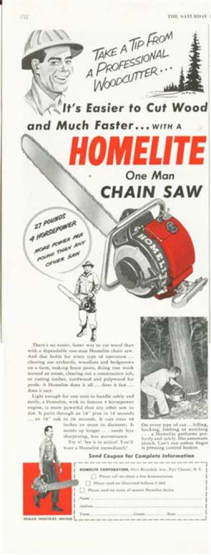 Homelite Chain Saw (1952)