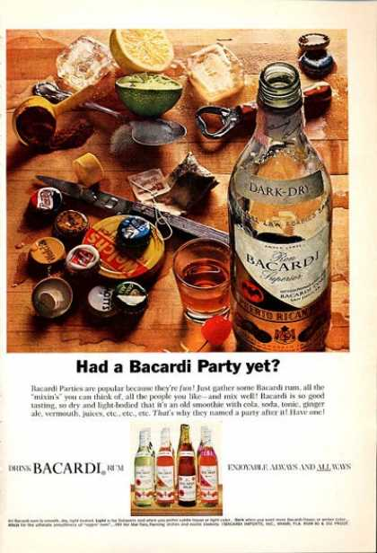 Bacardi Rum Bottle Caps (1965)