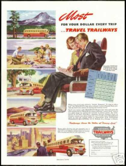 Trailways National Bus System Vintage (1949)