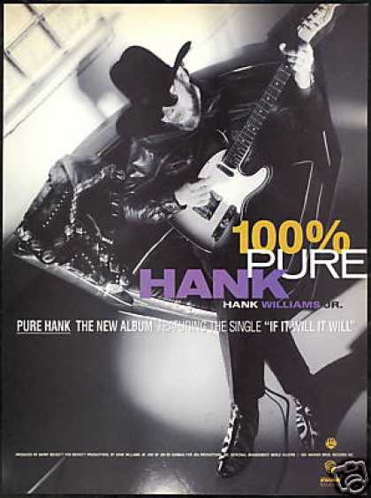 Hank Williams JR 100% Pure Hank Record Promo (1991)