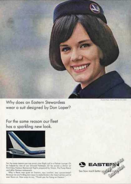 Eastern Airlines Stewardess Pamela Ware Photo (1966)