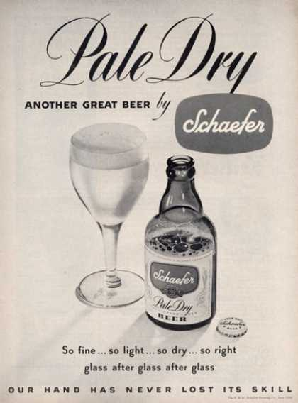 Schaefer Beer Bottle (1949)