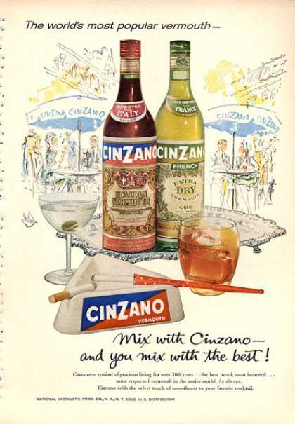 Cinzano Vermouth Bottle (1960)
