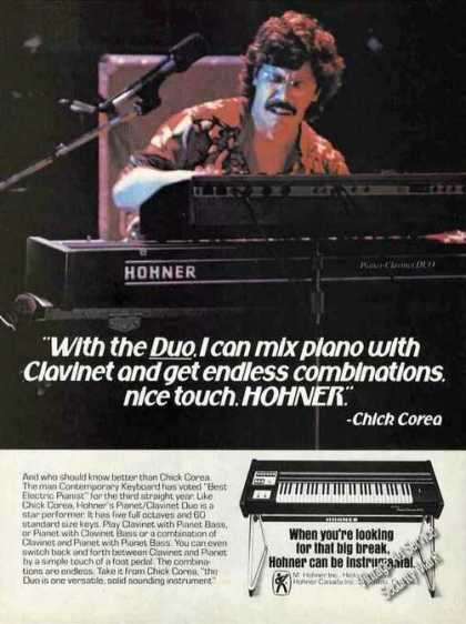 Chick Corea Photo Hohner Pianet/clavinet Duo (1979)